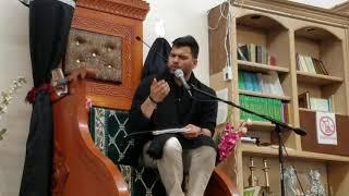 Mesum Abbas salam #1 at Hussaini Imambargha. California