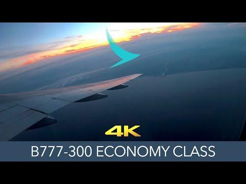 CX RETRO? Cathay Pacific B777-300 Tokyo to Hong Kong Economy 4K Trip Report