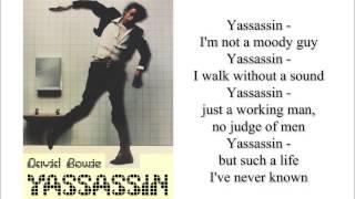 David Bowie   Yassassin (Lyrics)
