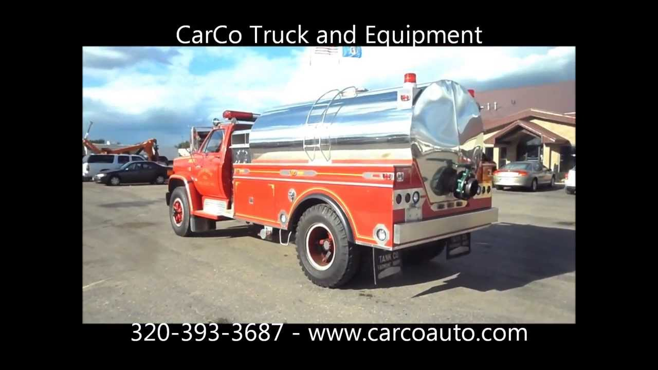 Used GMC Pumper / Tanker Fire Truck For Sale by CarCo Truck - YouTube
