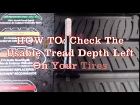 how to check usable tread depth left on your tires youtube. Black Bedroom Furniture Sets. Home Design Ideas