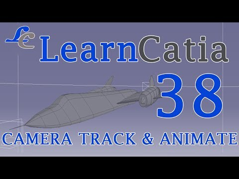 Learn catia V5 Tutorials for beginners  Camera track Animation 💙