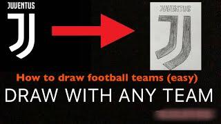 HOW TO DRAW ANY FOOTBALL TEAMS (VERY EASY)