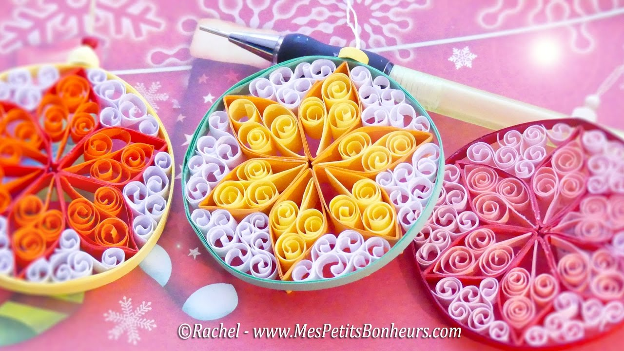 diy d co de no l boule en quilling tuto youtube. Black Bedroom Furniture Sets. Home Design Ideas