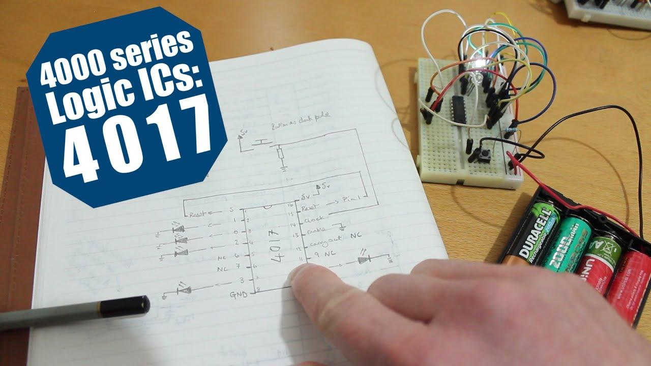 4000 Series Logic ICs: The 4017 Decade Counter