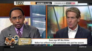 Espn First Take [11/10/2015] Wes Walker signs with Rams