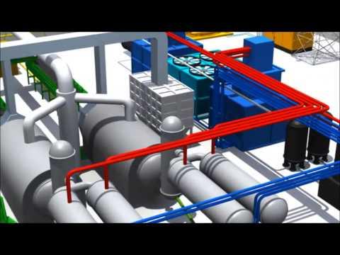 AK-ER Bioenerji Tyre Pyrolysis System Animations