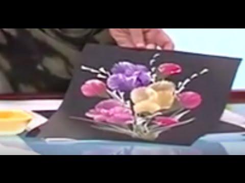 Como Pintar Un Cuadro De Flores Con Petalos En Tecnica Degrade