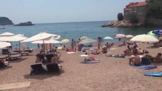 Видео туристов города Свети-Стефан