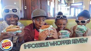 Vegan family reviews the Impossible Whopper from Burger King.