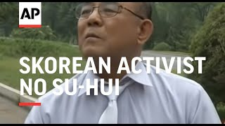 SKorean activist No Su-hui arrested as he returns from unauthorised trip to the North