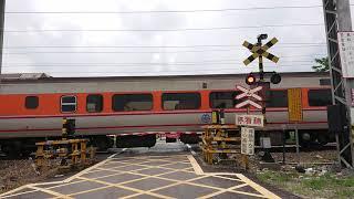 7201次貨物列車通過斗南鎮部前寮平交道