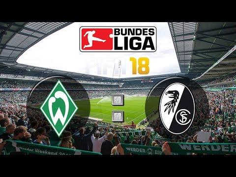 FIFA 18 Bundesliga SV Werder Bremen : Sport-Club Freiburg | Gameplay Deutsch Livestream