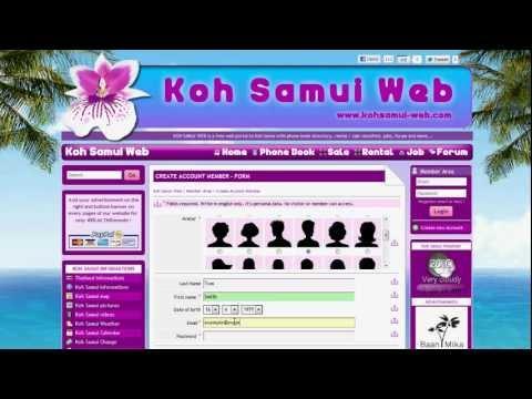 Koh Samui Web | Create New Account