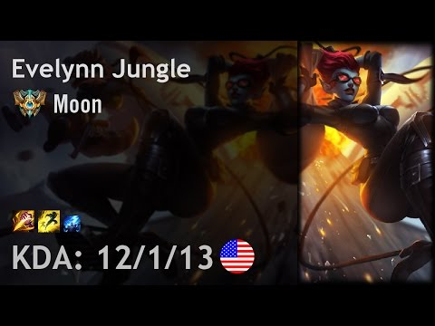 Evelynn Jungle vs Zac - Moon - NA Challenger Patch 6.24