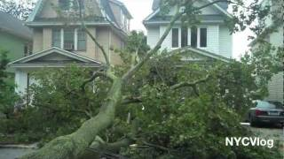 Hurricane Irene New York City Aftermath Footage Damage Part 2 NYC 2011