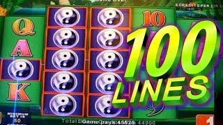 China Shores Bonus 100 Lines - Big Win - 1c Konami Video Slots