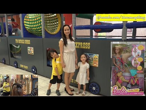 Kids' Indoor Playground Playtime Activities + Carousel Ride + A Barbie Doll Unboxing