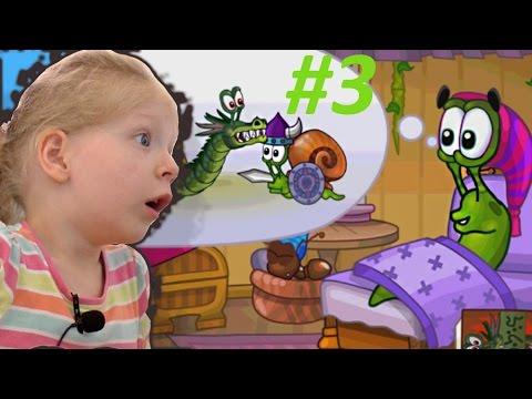 Детская игра про улитку Snail Bob 2 – СКЕЛЕТЫ НАПАЛИ НА УЛИТКУ. Мультик игра для малышей! Часть #3