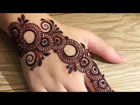 Latest Arabic Mehndi Design For Back Hand Ll Mehndi Design Ll Stylish Mehndi Design Ll म ह द ड ज इन