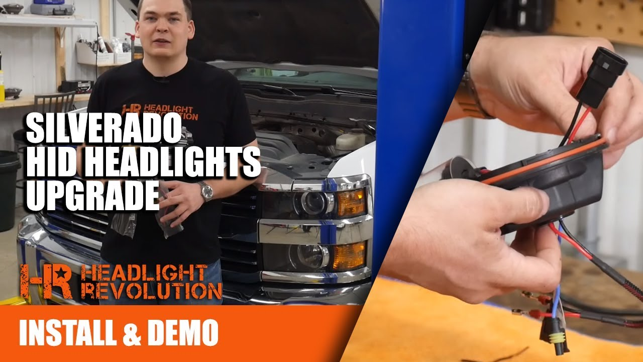 medium resolution of 700 brighter headlights chevy silverado 2500hd 35w and 55w hid install and testing 2014 2018
