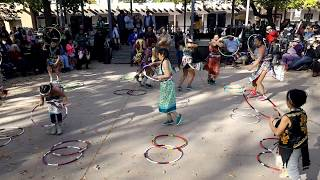 Indigenous Peoples Day Celebration 2017 Pueblo of Pojoaque Dancers and Youth Hoop Dancers Clip 2