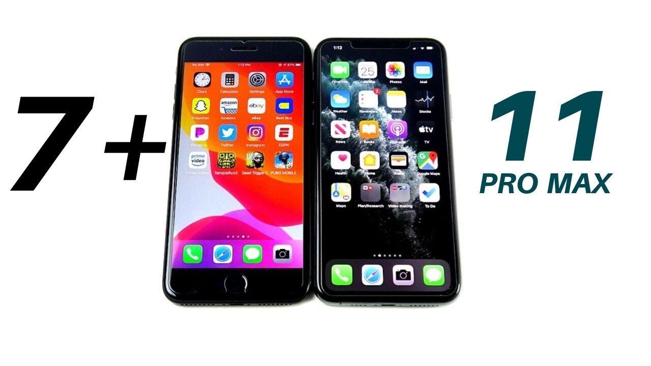 Iphone 7 Plus Vs Iphone 11 Pro Max Speed Test Youtube