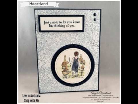 Heartland Simple Card or Step it Up with Watercolouring
