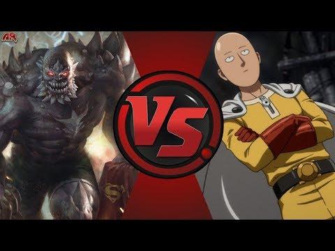 Doomsday vs Saitama (DC Comics vs One Punch Man)! Cartoon Fight Night Episode 38!