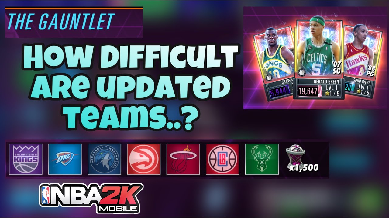 HOW DIFFICULT ARE THE UPDATED TEAMS IN THE JAM MASTERS GAUNTLET EVENT..?    NBA2K MOBILE