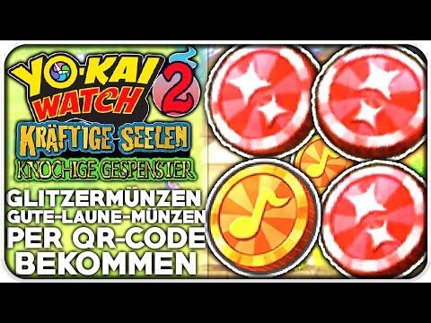 Repeat Qr Codes Für Glitzermünzen Gute Laune Münzen Yo Kai Watch