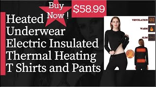 FERNIDA Heated Underwear Electric Insulated