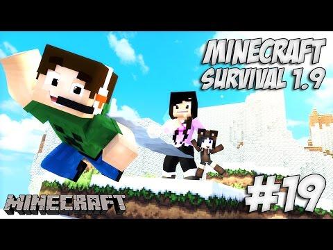 Minecraft Survival 1.9 #19 - Trabalhando nas obras da Torre