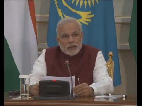 PM Modi at the Signing of Agreement and Joint Press Statements in Kazakhstan
