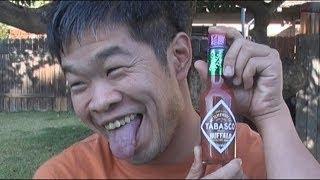 Tabasco Buffalo Wing Hot Sauce Chug Challenge