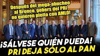 SE SUMAN AL INSABI! Gobers del PRI no quieren más reclamos y se suman a Obrador. Dejan sólo al PAN