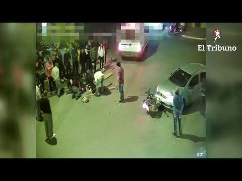 Impresionante accidente de moto en Rosario de la Frontera