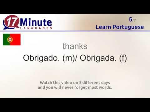Learn Portuguese (free language course video)