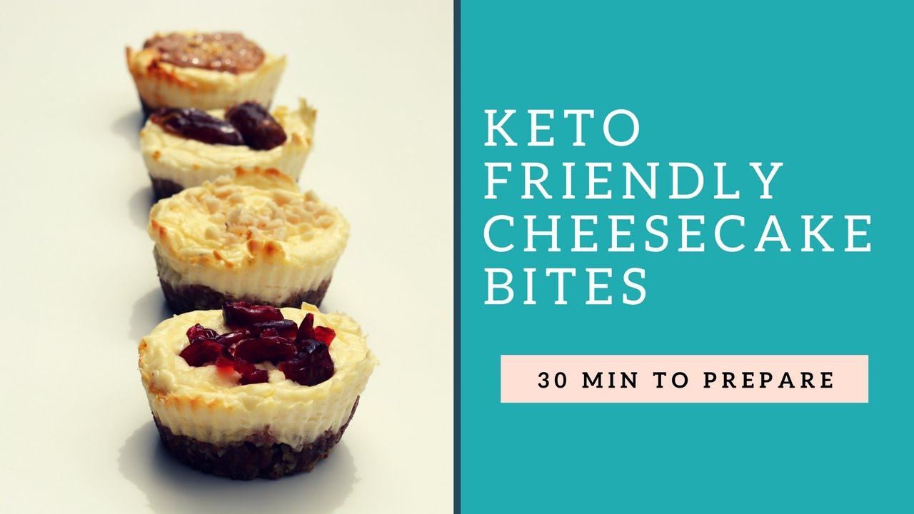 Keto friendly cheesecake bites recipe - high fat snack - YouTube