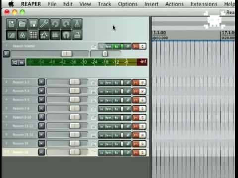 Tutorial - How to record/rewire separate Reason tracks to Reaper for mixdown