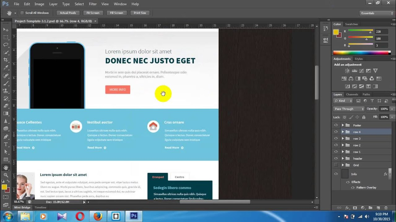 how to create header in html