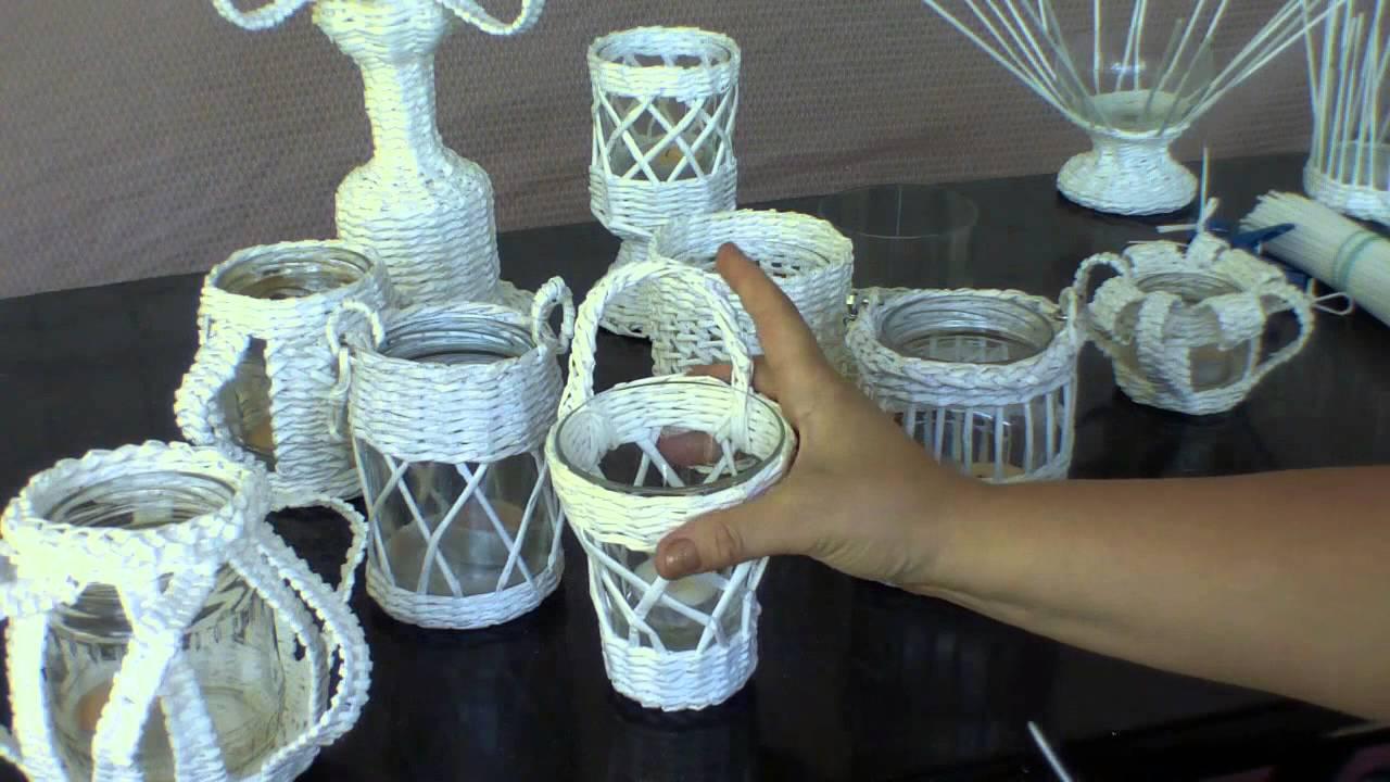 Изделия из газетных трубочек: мастер-класс по плетению декоративной клетки