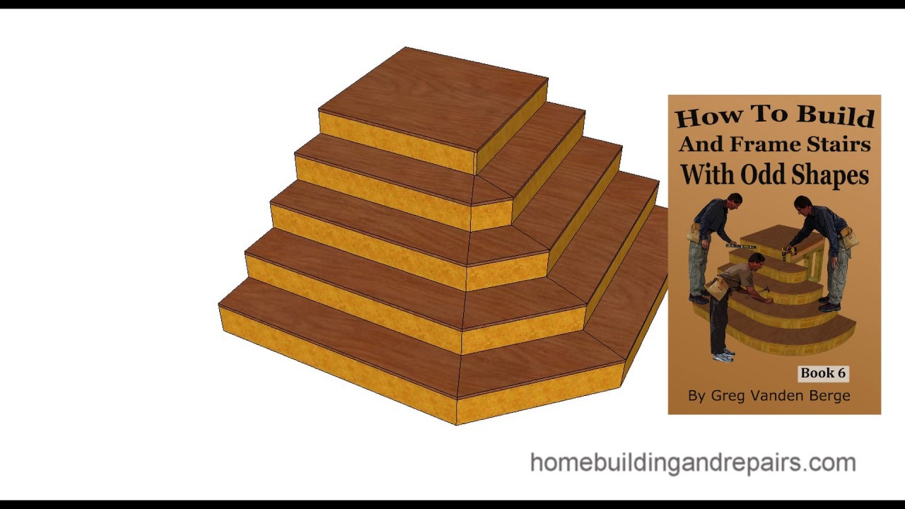 How To Build And Frame Stairs With Odd Shapes U2013 Book Example 2
