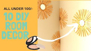 10 DIY Room Decor In Rs 100 | Room decoration idea
