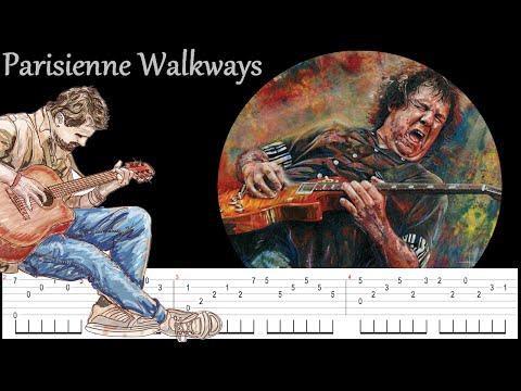 Parisienne Walkways - Gary Moore - Fingerstyle - tab and tuto guitar