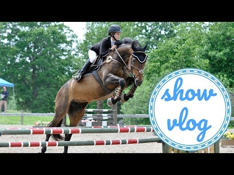 A ROUGH FIRST 1m JUMPER SHOW - Show Vlog | EquineCass