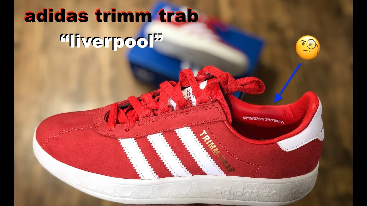 "Igualmente Solenoide estrecho  Adidas trimm trab ""liverpool"" Indonesia 🇮🇩 unboxing - YouTube"