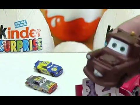 Пожарная машина привезла Киндер сюрприз Тачки 2, Мэтр, анимация для детей про машинки 2