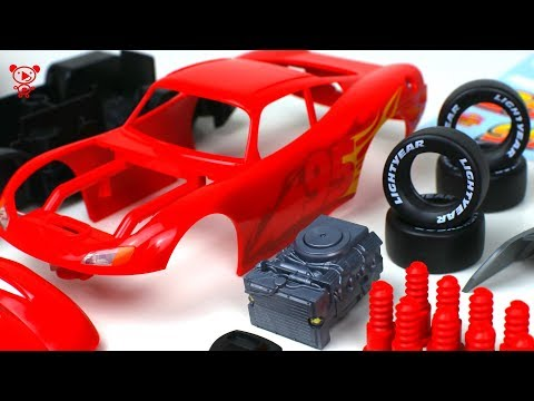 Cars 3 Lightning McQueen Revell Junior Kit cars for kids - McQueen educational video for children