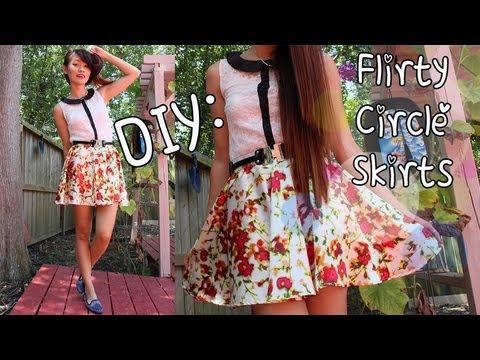 ♡DIY: Simple Skater Skirt - YouTube
